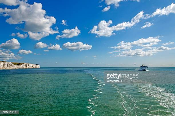 united kingdom, england, kent, dover, english channel, channel ferry - dover england stock pictures, royalty-free photos & images