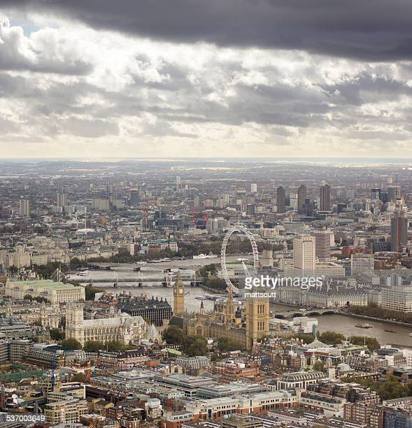 united kingdom, england, london, aerial view of city - mattscutt stock pictures, royalty-free photos & images