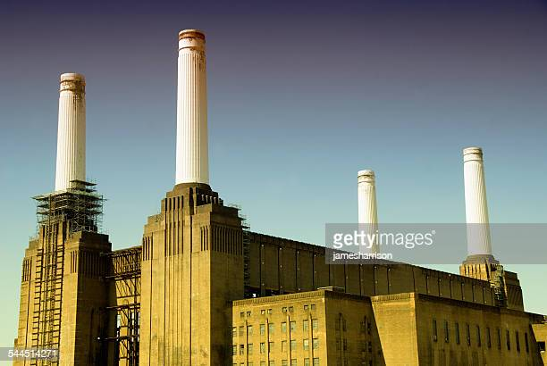 united kingdom, england, london, battersea power station - battersea stock pictures, royalty-free photos & images