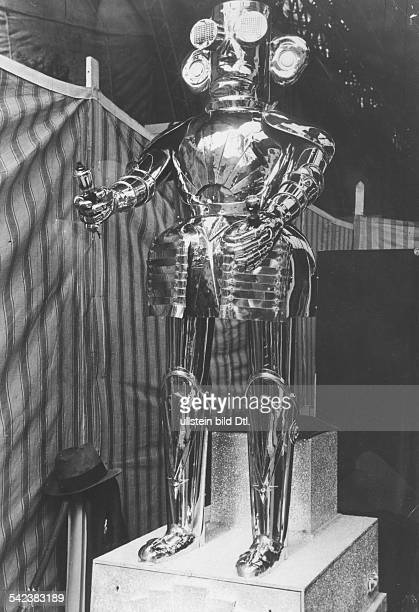 United Kingdom England London Radio controlled robot Alpha made by Mullard Ltd shown on London Radio Exhibition Photographer William Davis Published...