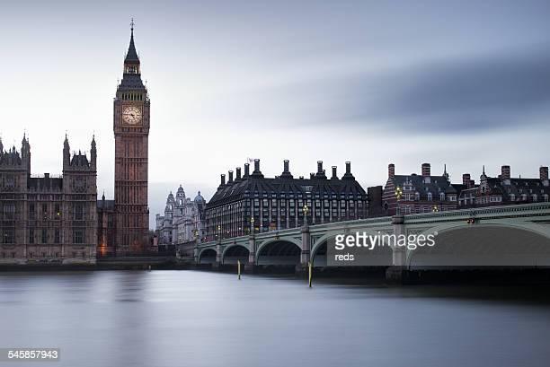 United Kingdom, England, London, View of Big Ben and Westminster Bridge