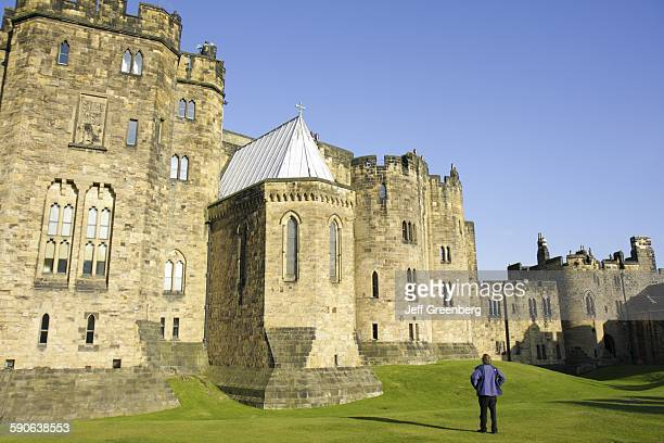 United Kingdom England Northumberland Alnwick Alnwick Castle 11Th Century Norman Architecture Harry Potter Movie Site