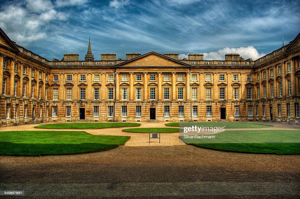 United Kingdom, England, Oxford, Courtyard of Christ Church : Stock Photo