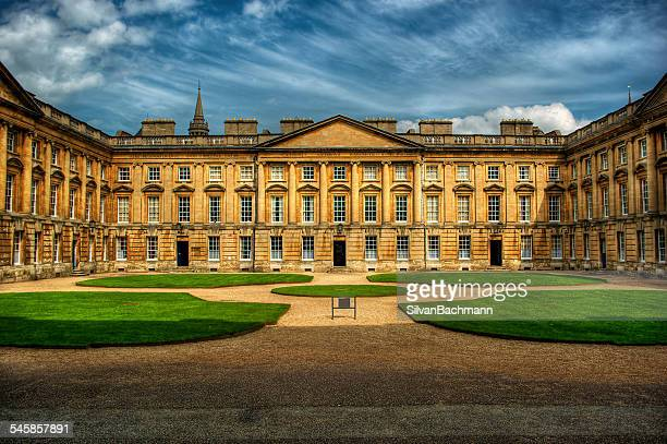 united kingdom, england, oxford, courtyard of christ church - oxford university stock pictures, royalty-free photos & images