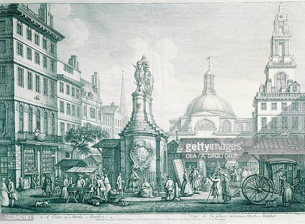United Kingdom Great Britain England London 18th century The London Stock Exchange engraving