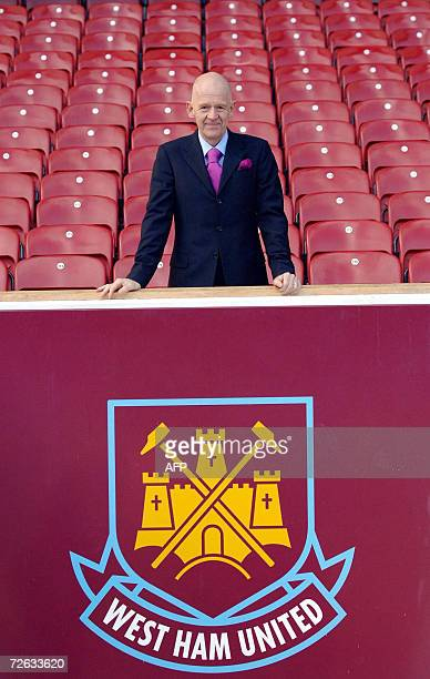 Icelandic businessman Eggert Magnusson is pictured at West Ham United football Club in London 21 November 2006 Magnusson the head of the Icelandic...