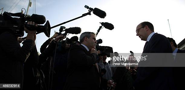 United Kingdom Independence Party candidate Mark Reckless talks to reporters on November 19, 2014 in Hoo near Rochester, England. A parliamentary...
