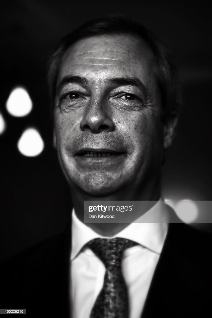 United Kingdom Independence Party (UKIP) leader Nigel Farage poses for a picture during the final day of the party's conference on February 28, 2015 in Margate, England. The anti-EU party with two members of parliament, both of whom defected from the Conservative Party, are holding their spring conference ahead of the forthcoming general election
