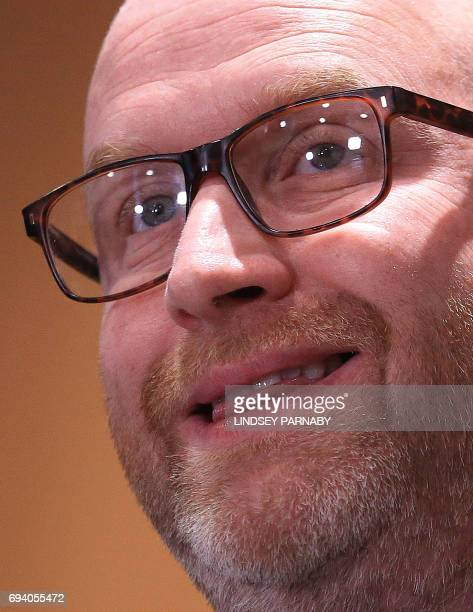 United Kingdom Independence Party leader Paul Nuttall delivers his resignation speech at a press conference in Boston eastEngland on June 9 2017...