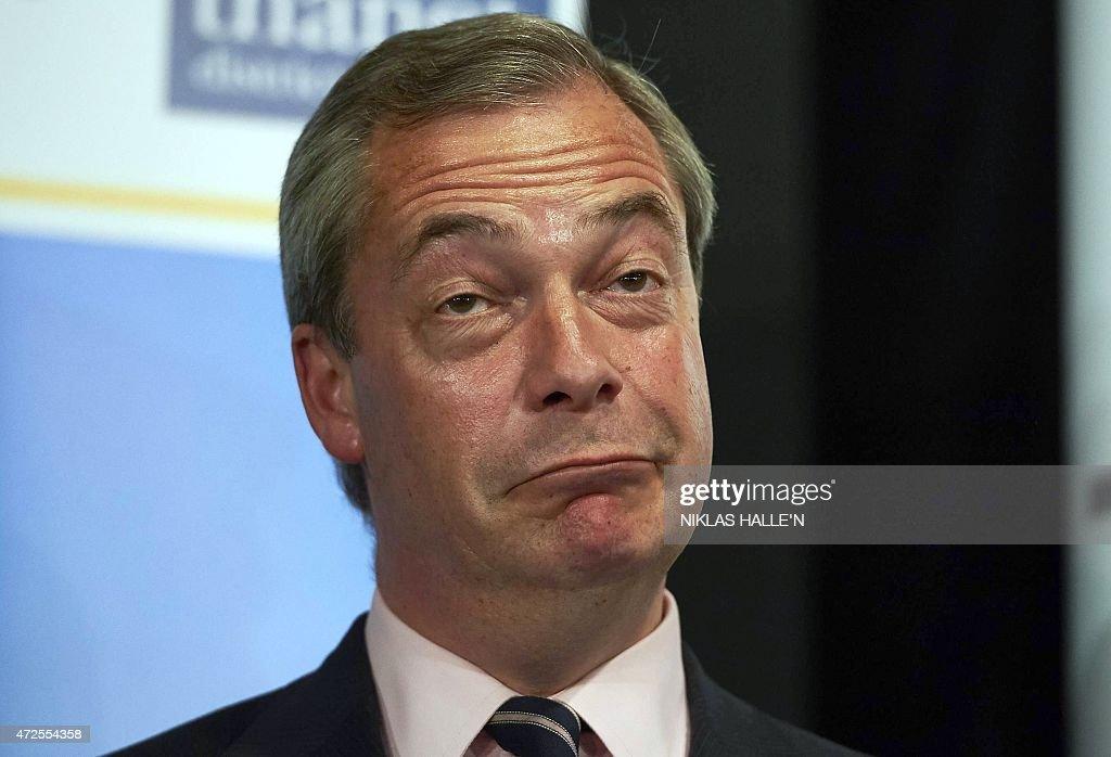 BRITAN-VOTE-FARAGE : News Photo