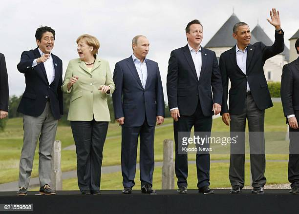 ENNISKILLEN United Kingdom Japanese Prime Minister Shinzo Abe German Chancellor Angela Merkel Russian President Vladimir Putin British Prime Minister...