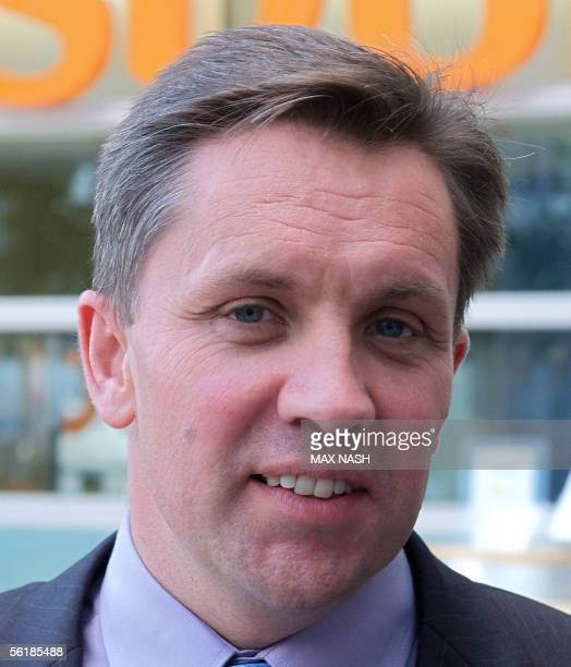 Justin King Chief Executive Officer of the British supermarket chain Sainsbury's poses for photographs during a photocall in London 16 November 2005...