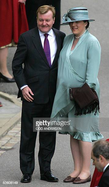 Liberal Democrat leader Charles Kennedy and his wife Sarah arrive for the blessing after the civil wedding of Prince Charles and Camilla Parker...
