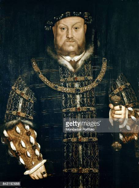 United Kingdom London National Portrait Gallery Whole artwork view Portrait of the king Henry VIII of England
