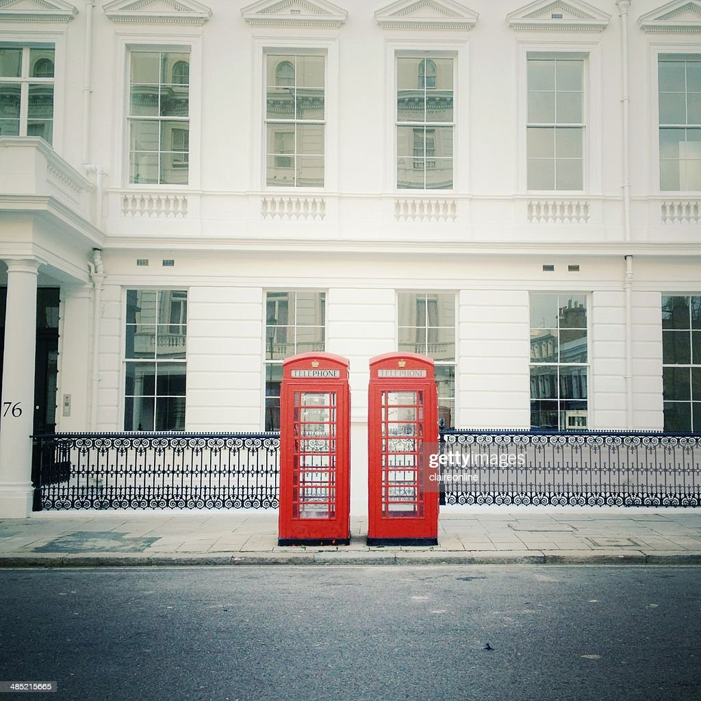 United Kingdom, London, Telephone boxes : Stock Photo