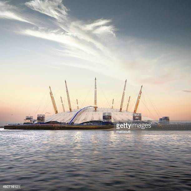 united kingdom, london, view of o2 arena - the o2 england stock pictures, royalty-free photos & images
