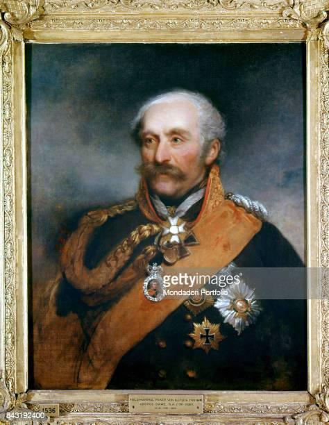 United Kingdom London Wellington museum Whole artwork view Portrait of Prussian field marshal Gebhard Leberecht von Bluecher in full uniform