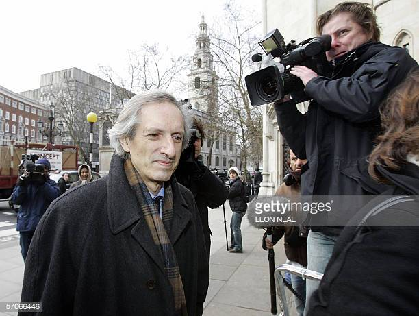 Michael Baigent one of three authors of The Holy Blood and the Holy Grail arrives at the High Court in London 13 March 2006 Bestselling author Dan...