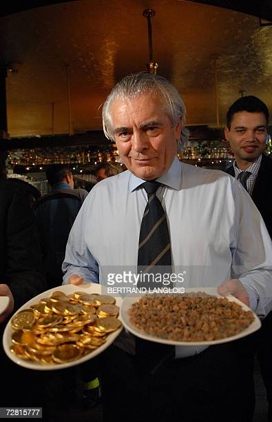 Michael Powell the winner of a challenge to identify a plate of myrrh is pictured in a pub in central London 13 December 2006 Myrrh made famous by...