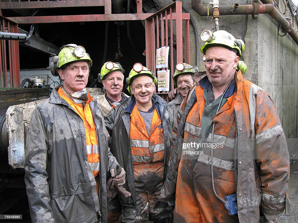 Miners at a coal mine in the village of... : News Photo