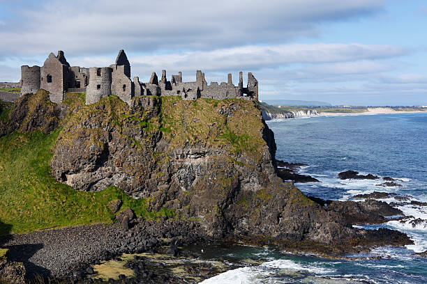 United Kingdom, Northern Ireland, County Antrim, View Of Dunluce Castle Wall Art