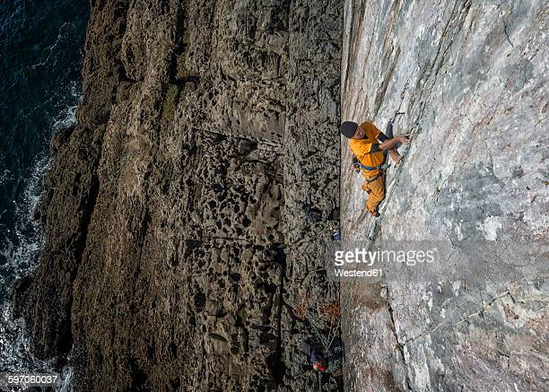 United Kingdom, Pembroke, Mother Careys Kitchen, Rock climbing