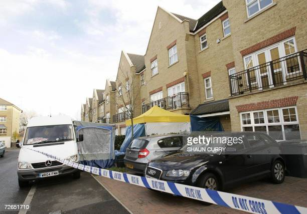 Police cordons are placed outside the home of former Russian spy Alexander Litvinenko in north London 27 November 2006 British authorities have found...