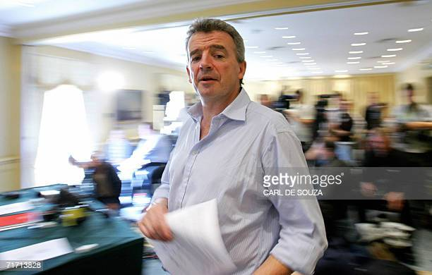 Ryanair's Chief Executive Michael O'Leary is pictured during a press conference in central London 18 August 2006 Ryanair said Friday 25 August 2006...