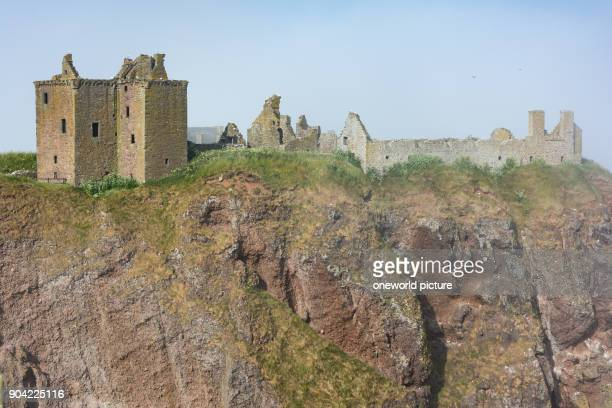 United Kingdom Scotland Aberdeenshire Stonehaven Dunnottar Castle in the Mist Dunnottar Castle is a castle ruin hiding the Scottish Crown Jewels...