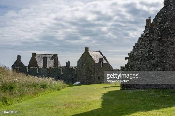 United Kingdom, Scotland, Aberdeenshire, Stonehaven, Dunnottar Castle near, Dunnottar Castle, is a castle ruin, hiding the Scottish crown jewels...