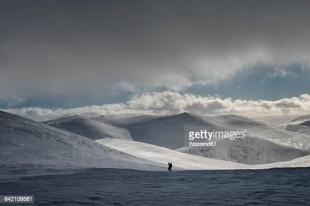 United Kingdom, Scotland, Cairngorms, ski tourer