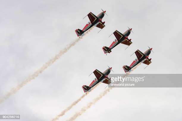 United Kingdom Scotland East Lothian North Berwick Royal Jordanian Falcons at the annual Scotlands National Airshow in East Fortune The Royal...