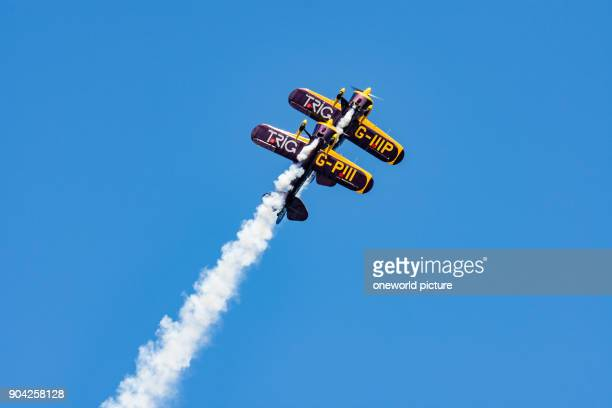 United Kingdom Scotland East Lothian North Berwick Trig team at the annual Scotlands National Airshow in East Fortune The Trig Aerobatic Team flies...