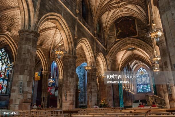United Kingdom Scotland Edinburgh Interior shot of the High Kirk of Edingburgh the former St Giles cathedral also called High Kirk of Edinburgh is...