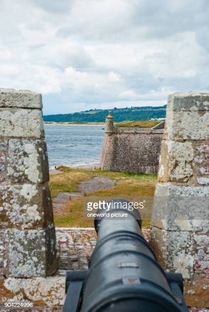 United Kingdom Scotland Highland Inverness Moray Firth View of a gunner from Fort George The fortress dates from the 18th century and is located...