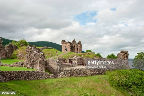 United Kingdom Scotland Highland Inverness View of the Urquhart Castle at Loch Ness Urquhart Castle a castle ruin at Loch Ness