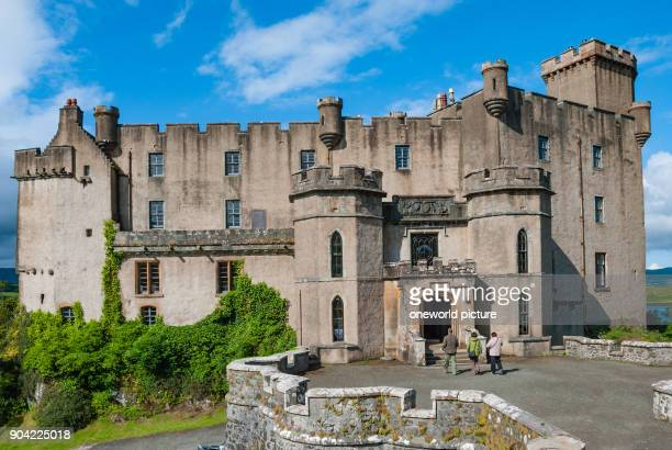 United Kingdom Scotland Highland Isle of Skye The Dunvegan Castle from the outside Dunvegan Castle is the tribal seat of the Scottish clan of the...