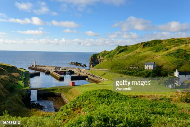 united kingdom, scotland, highland, lybster, harbour - fishing village stock pictures, royalty-free photos & images