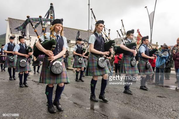 United Kingdom Scotland Highlands Isle of Skye Portree Isle of Skye Pipe Band