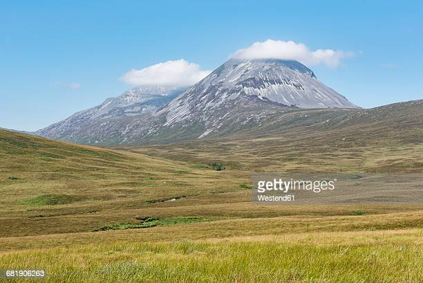 United Kingdom, Scotland, Inner Hebrides, Isle of Jura, View of mountain Paps of Jura
