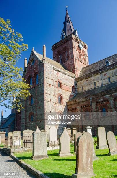 United Kingdom Scotland Orkney Islands Kirkwall St Magnus Cathedral on the Orkney Islands StMagnus Cathetral