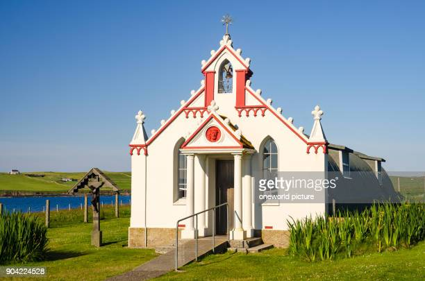 United Kingdom, Scotland, Orkney Islands, Orkney, Italian Chapel on Lambholm, The Italian Chapel is a Roman Catholic church building on the Scottish...