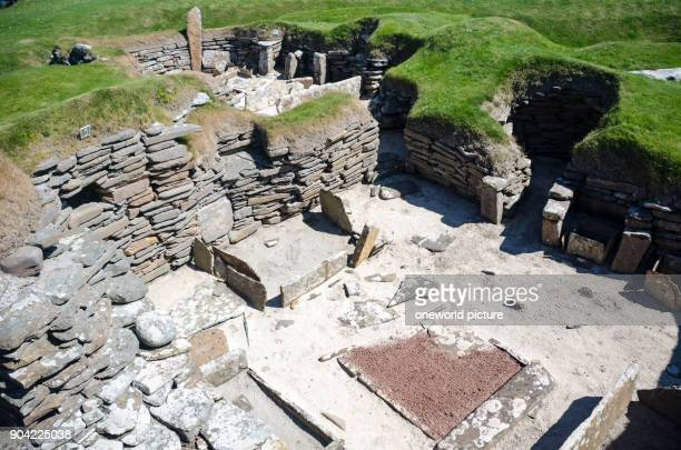 United Kingdom Scotland Orkney Islands Sandwick ruins on the Orkney Islands Skara Brae