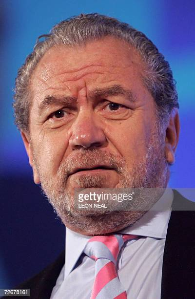 """United Kingdom: Sir Alan Sugar, Chief Executive Officer and Chairman of Amstrad, and host of the television programme """"The Apprentice UK,"""" addresses..."""