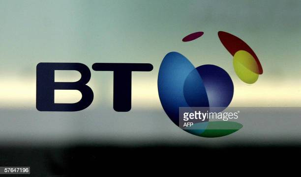 The British Telecom logo is pictured in London 18 May 2006 British telecoms operator BT Group unveiled on Thursday a 154percent drop in net profits...