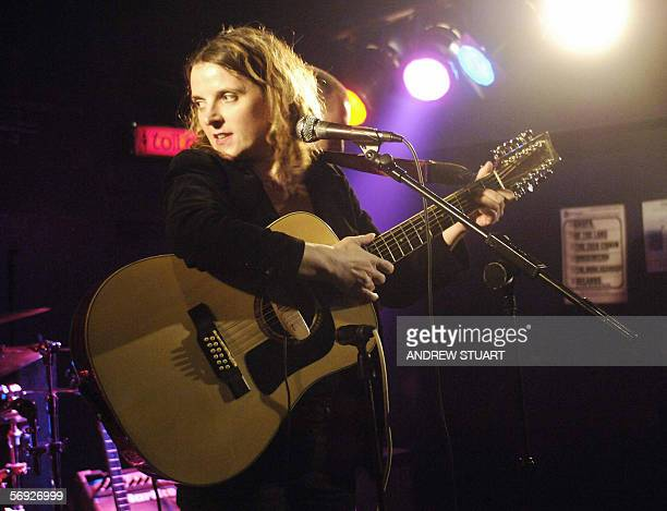 **UK OUT** Singer Abigail Hopkins daughter of actor Sir Anthony Hopkins performs at the Garage venue at Highbury Corner in London 21February 2006 AFP...