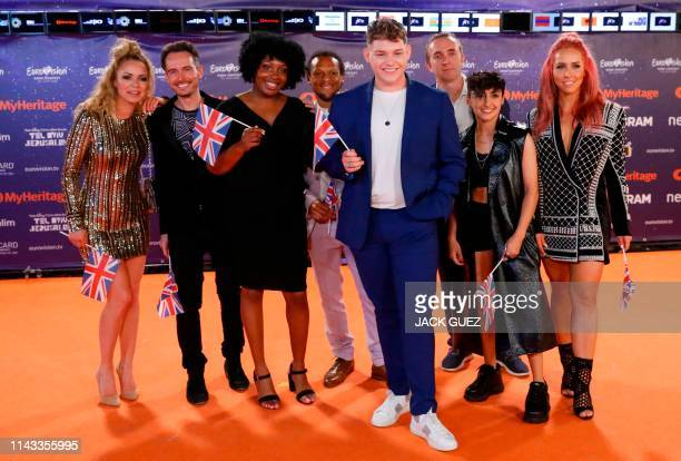 United Kingdom's Michael Rice poses for a picture during the Red Carpet ceremony of the 64th edition of the Eurovision Song Contest 2019 at Expo Tel...