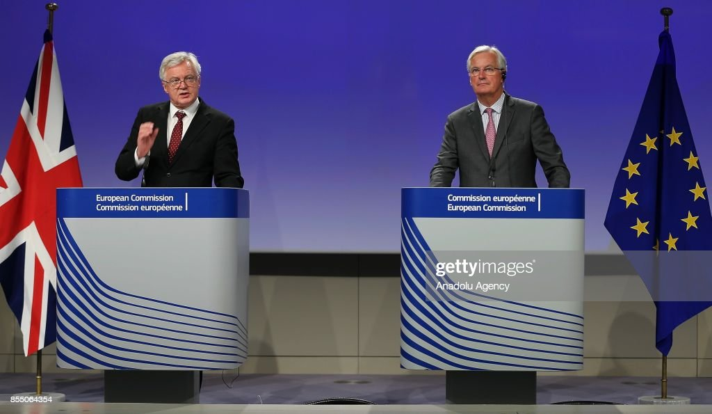 Brexit negotiations in Brussels : News Photo