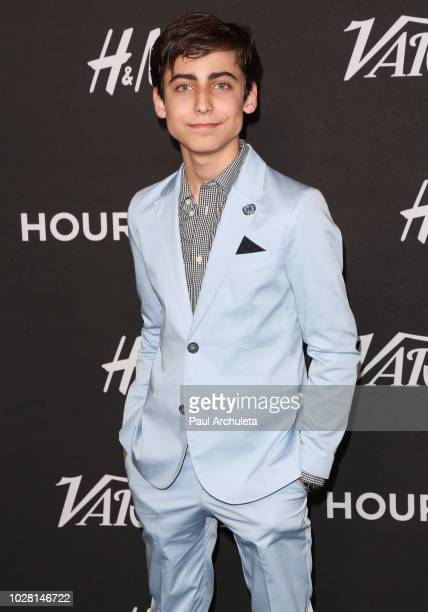 United Nations Ambassador Aidan Gallagher attends Variety's annual Power Of Young Hollywood at The Sunset Tower Hotel on August 28 2018 in West...