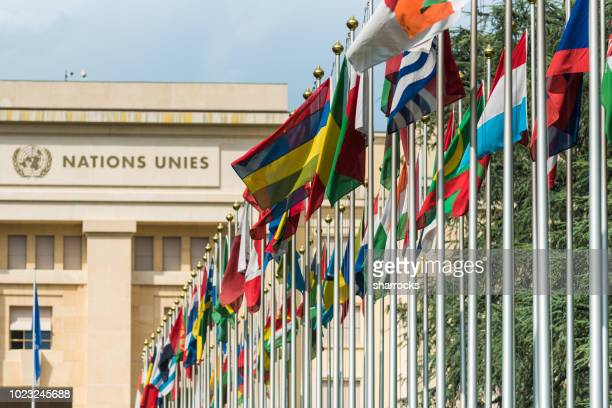 united nations building, geneva, switzerland - united nations stock pictures, royalty-free photos & images